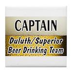 Duluth Beer Drinking Team Tile Coaster
