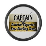 Duluth Beer Drinking Team Large Wall Clock