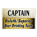 Duluth Beer Drinking Team Rectangle Sticker