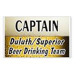 Duluth Beer Drinking Team Rectangle Sticker 10 pk