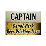 Canal Park Beer Drinking Team Rectangle Magnet