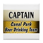 Canal Park Beer Drinking Team Tile Coaster