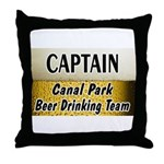 Canal Park Beer Drinking Team Throw Pillow