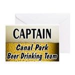Canal Park Beer Drinking Team Greeting Cards (Pk o