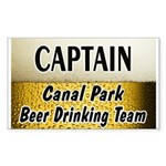 Canal Park Beer Drinking Team Rectangle Sticker