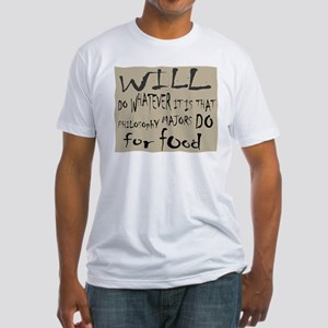 Homeless Philosopy Major Fitted T-Shirt