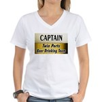 Twin Ports Beer Drinking Team Women's V-Neck T-Shi