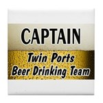 Twin Ports Beer Drinking Team Tile Coaster