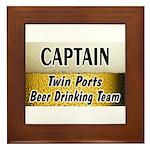 Twin Ports Beer Drinking Team Framed Tile