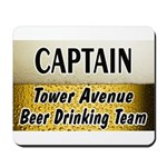 Tower Avenue Beer Drinking Team Mousepad