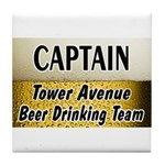 Tower Avenue Beer Drinking Team Tile Coaster