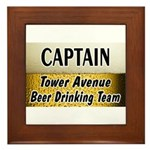 Tower Avenue Beer Drinking Team Framed Tile