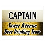 Tower Avenue Beer Drinking Team Small Poster