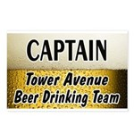 Tower Avenue Beer Drinking Team Postcards (Package