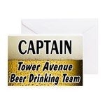 Tower Avenue Beer Drinking Team Greeting Cards (Pk
