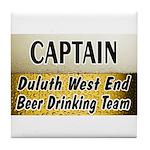 West End Beer Drinking Team Tile Coaster