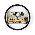 West End Beer Drinking Team Wall Clock