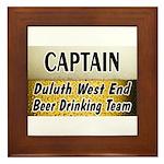 West End Beer Drinking Team Framed Tile