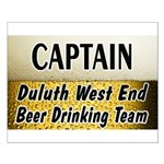 West End Beer Drinking Team Small Poster