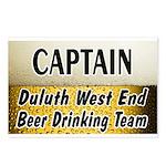 West End Beer Drinking Team Postcards (Package of