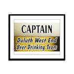 West End Beer Drinking Team Framed Panel Print