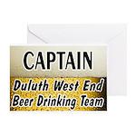 West End Beer Drinking Team Greeting Card