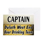 West End Beer Drinking Team Greeting Cards (Pk of