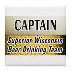 Superior Beer Drinking Team Tile Coaster