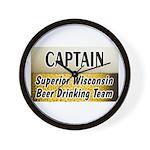 Superior Beer Drinking Team Wall Clock