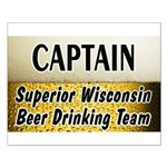 Superior Beer Drinking Team Small Poster
