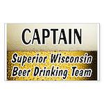 Superior Beer Drinking Team Rectangle Sticker