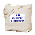 I Love Duluth Winter Tote Bag