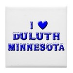 I Love Duluth Winter Tile Coaster