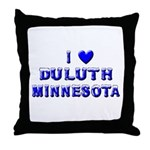 I Love Duluth Winter Throw Pillow