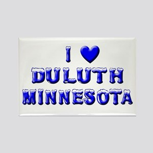 I Love Duluth Winter Rectangle Magnet