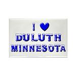 I Love Duluth Winter Rectangle Magnet (10 pack)