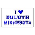 I Love Duluth Winter Rectangle Sticker