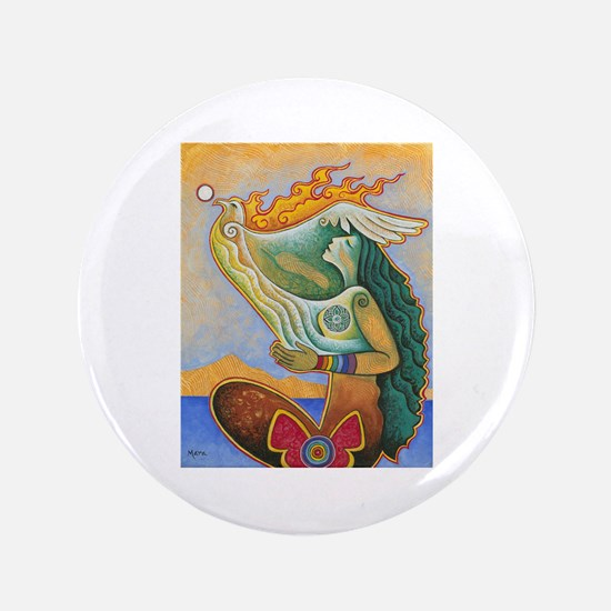 "Rooted in Reverence, Seated in Spirit 3.5"" Button"