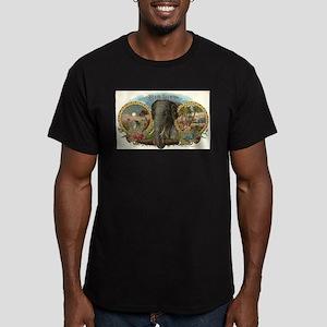 Vintage Cigar Label Men's Fitted T-Shirt (dark)