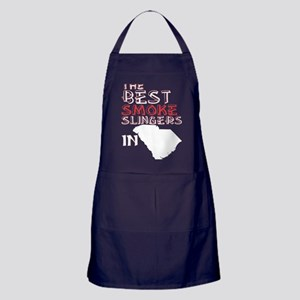 The Best Smoke Slingers In South Caro Apron (dark)