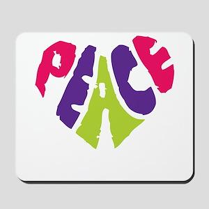 Light Peace Heart Mousepad