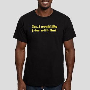 Supersize It! Men's Fitted T-Shirt (dark)