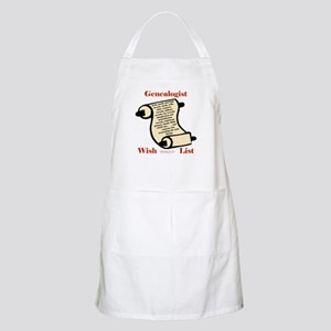 Genealogy Wish List BBQ Apron