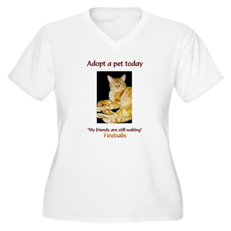 Adopt A Pet - Women's Plus Size V-Neck T-Shirt
