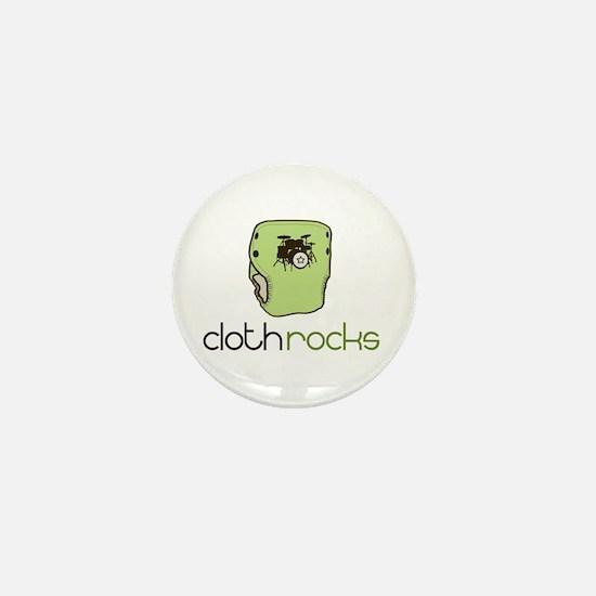 Cloth Rocks Mini Button