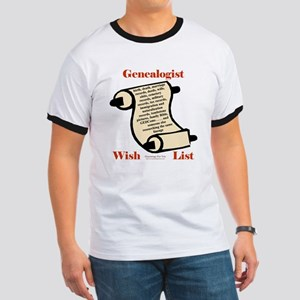 Genealogy Wish List Ringer T