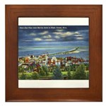 1941 View of Duluth from Skyline Drive Framed Tile