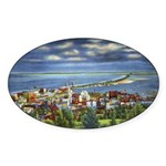 1941 View of Duluth from Skyline Drive Sticker (Ov