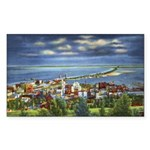 1941 View of Duluth from Skyline Drive Sticker (Re