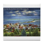 1941 View of Duluth from Skyline Drive Tile Coaste